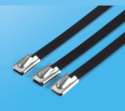 Stainless Steel Epoxy Coated Cable Ties-Ball Lock Type 1