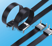 Stainless Steel Epoxy Coated Cable Ties-Wing Lock Type